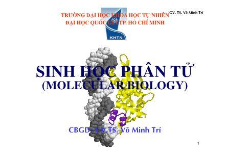Tài liệu Sinh học phân tử (molecular biology)