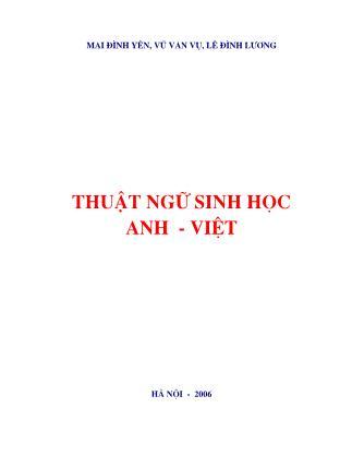 Thuật ngữ sinh học Anh - Việt