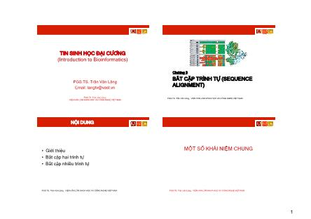 Tin học đại cương - Chương 3: Bắt cặp trình tự (sequence alignment)