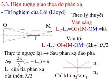 Bài giảng Vật lý đại cương - Hiện tượng giao thoa do phản xạ