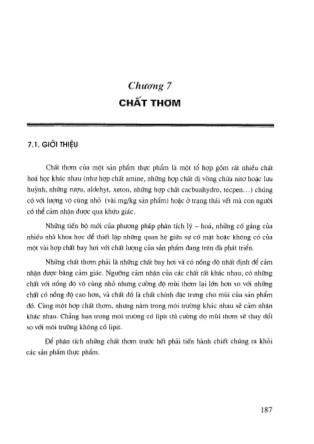 Công nghệ Hóa học - Chương 7: Chất thơm