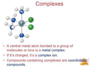 Công nghệ hóa học - Complexes