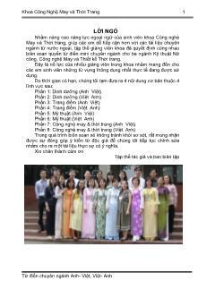 Công nghệ may và thời trang - Từ điển chuyên ngành Anh - Việt, Việt - Anh
