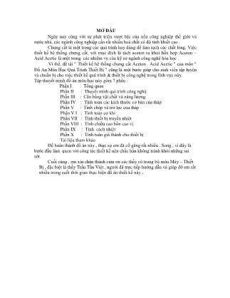 Đồ án Thiết kế hệ thống chưng cất Aceton – Acid Acetic
