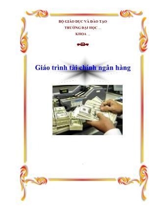 Giáo trình Tài chính ngân hàng