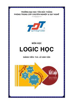 Giáo trình về Logic học