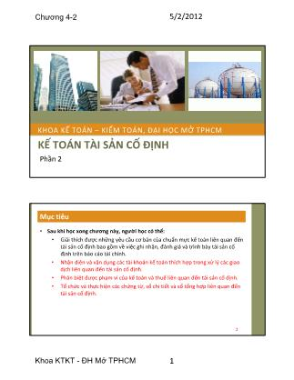 Kế toán - Kiểm toán - Phần 2: Kế toán tài sản cố định