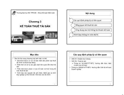 Tài chính kế toán - Chương 3: Kế toán thuê tài sản