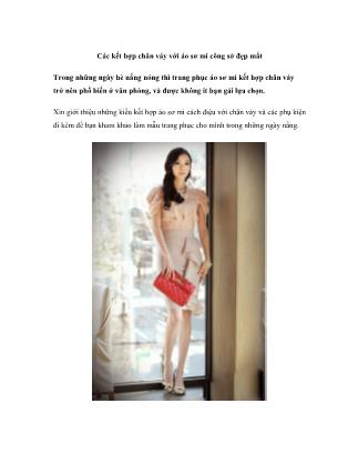 Thời trang - Các kết hợp chân váy với áo sơ mi công sở đẹp mắt