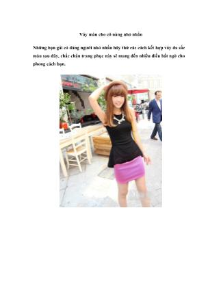 Thời trang - Váy màu cho cô nàng nhỏ nhắn