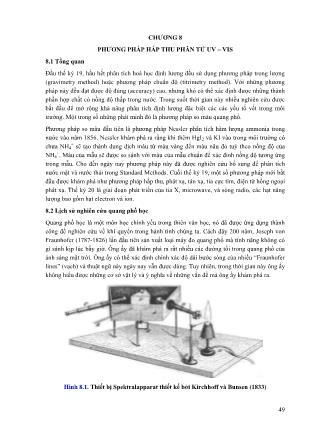 Vật lí - Chương 8: Phương pháp hấp thu phân tử UV – VIS
