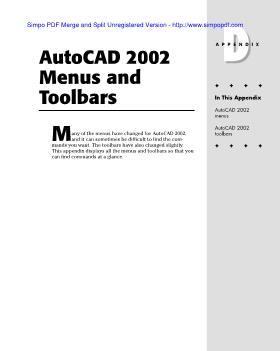 Autocad 2002 menus and toolbars