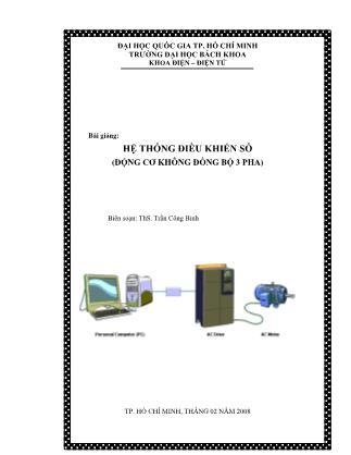 Bài giảng Hệ thống điều khiển số (động cơ không đồng bộ 3 pha)