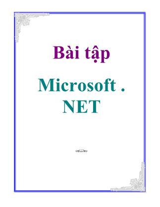Bài tập Microsoft. net