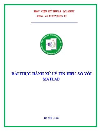 Bài thực hành xử lý tín hiệu số với Matlab