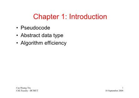 Cơ sở dữ liệu - Chapter 1: Introduction