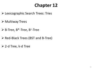 Cơ sở dữ liệu - Chapter 12: Multiway trees
