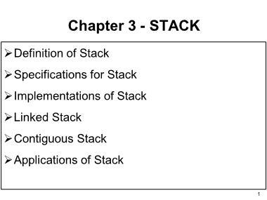 Cơ sở dữ liệu - Chapter 3: Stack