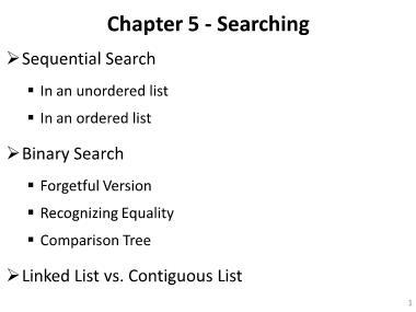 Cơ sở dữ liệu - Chapter 5: Searching