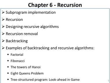Cơ sở dữ liệu - Chapter 6: Recursion
