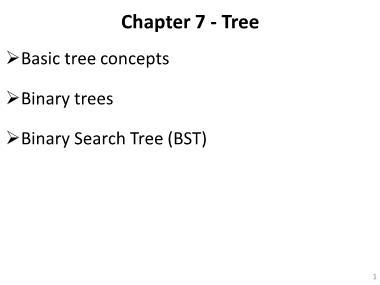 Cơ sở dữ liệu - Chapter 7: Tree