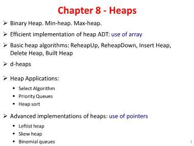 Cơ sở dữ liệu - Chapter 8: Heaps