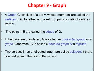 Cơ sở dữ liệu - Chapter 9: Graph