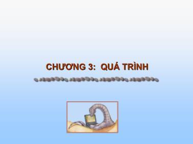 Cơ sở dữ liệu - Chương 3: Quá trình