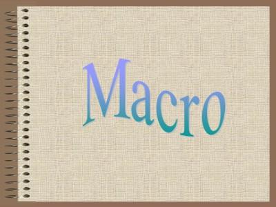 Cơ sở dữ liệu - Macro