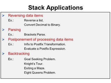 Cơ sở dữ liệu - Stack applications