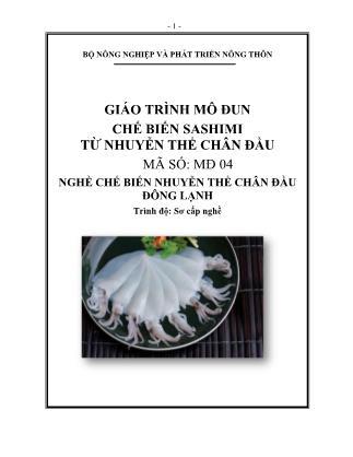 Giáo trình Chế biến sashimi từ nhuyễn thể chân đầu