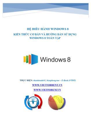 Hệ điều hành Windows 8 kiến thức cơ bản và hướng dẫn sử dụng Windows 8 toàn tập