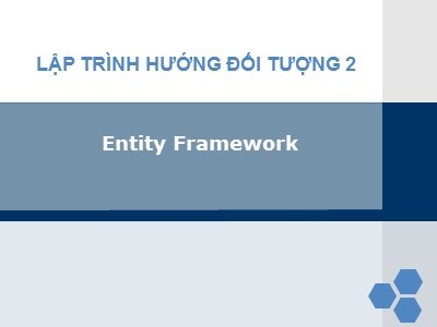 Lập trình hướng đối tượng 2 - Entity framework