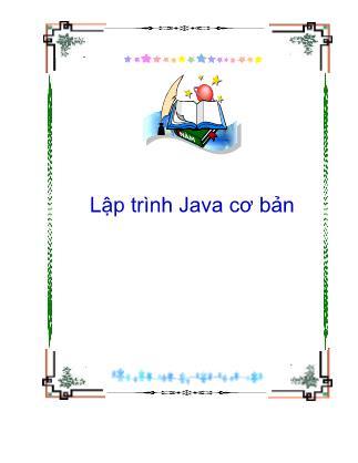 Lập trình Java cơ bản - Lập trình Java cơ bản