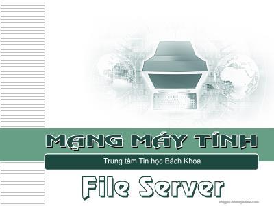 Mạng máy tính - File server