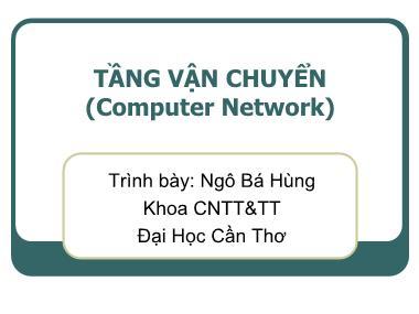 Mạng máy tính - Tầng vận chuyển (computer network)